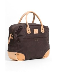 Will Leather Goods Canvas Flight Bag Brown One Size