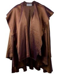 Dark Brown Cape Coat