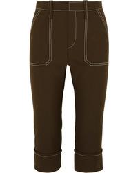 Dark Brown Capri Pants
