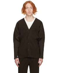 Homme Plissé Issey Miyake Brown Color Pleats Cardigan