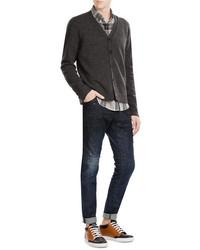 Dark Brown Cardigans for Men | Men's Fashion