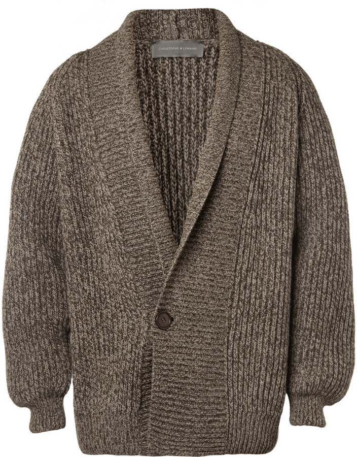 Christophe Lemaire Chunky Yak And Wool Blend Cardigan | Where to ...
