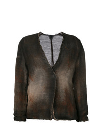 Avant Toi Cross Body Overdyed Knitted Jacket