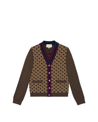 Gucci Square G Cardigan With Tiger
