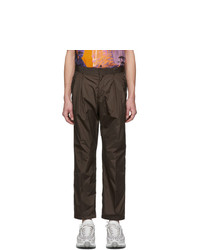 Valentino Brown Nylon Cargo Pants
