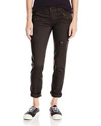 Juniors solid feminine cargo pant with rib waist medium 81749