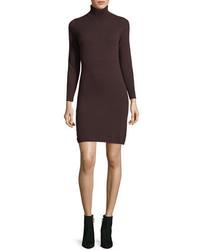 Neiman Marcus Cashmere Collection Long Sleeve Turtleneck Cashmere Dress