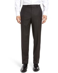 Dark Brown Check Dress Pants