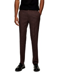 Topman Skinny Fit Plaid Suit Trousers