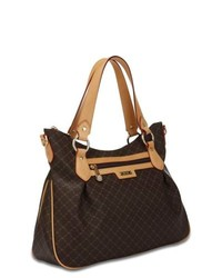 Rioni The Jenny Bag Signature Brown Canvas And Leather Trim Handbag