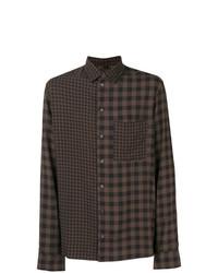 Qasimi Contrast Check Shirt
