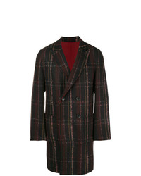 Etro Check Double Breasted Coat