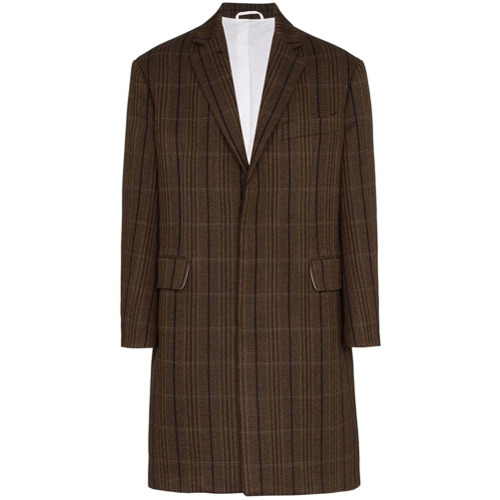 Calvin Klein 205W39nyc Check Print Wool  Coat