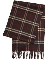 Dark Brown Check Scarf