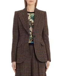 Dolce & Gabbana Check Wool Blend Blazer