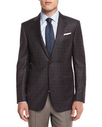 Ermenegildo Zegna Check Wool Sport Coat Brown