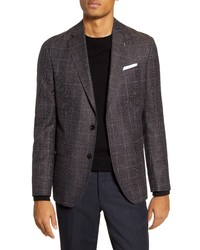 Ted Baker London Fit Windowpane Wool Blend Sport Coat