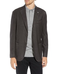 L.B.M. Lbm 1911 Classic Fit Windowpane Wool Sport Coat