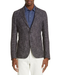 Z Zegna Trim Fit Check Wool Blend Sport Coat