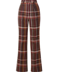 Acne Studios Checked Wool And Flared Pants