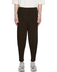 Homme Plissé Issey Miyake Brown Basics Trousers