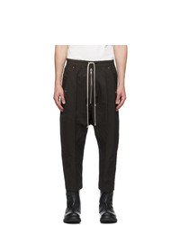 Rick Owens Brown Cropped Bela Trousers