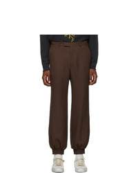 Gucci Brown Fluid Drill Trousers
