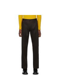 BOSS Brown Gabardine Parko Trousers