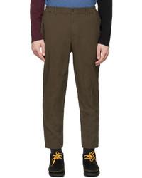 Comme des Garcons Homme Deux Khaki Gart Dyed Trousers