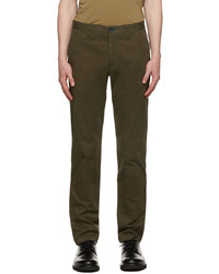 Ps By Paul Smith Khaki Tapered Chino Trousers