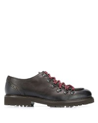 Dark Brown Chunky Leather Derby Shoes