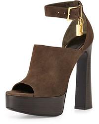 Suede padlock chunky sandal medium 344731