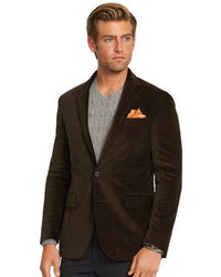 Dark Brown Corduroy Blazers for Men | Men's Fashion