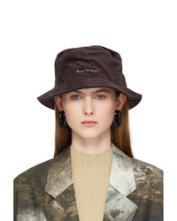 Acne Studios Brown Corduroy Bucket Hat