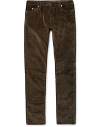 Dark Brown Corduroy Jeans
