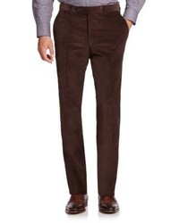 Saks Fifth Avenue Collection Flat Front Corduroy Pants