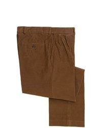 Specially made 18 Wale Corduroy Comfort Waist Pants Pleated Dark Brown