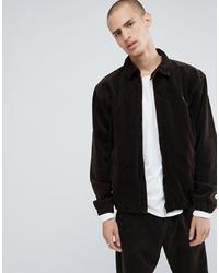 Dark Brown Corduroy Shirt Jacket
