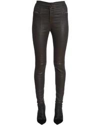 Balmain Skinny Coated Cotton Denim Jeans