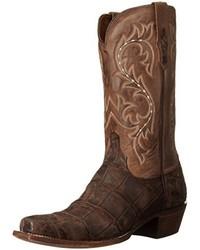 Dark Brown Cowboy Boots