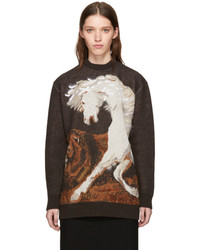 Brown pegasus sweater medium 5363522