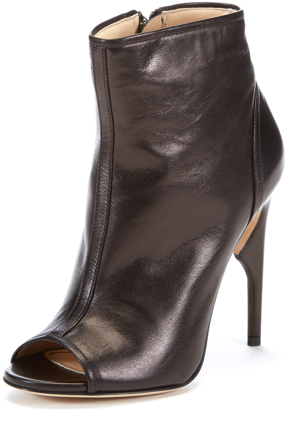 Jerome C. Rousseau Leather Peep-Toe Booties cheap genuine discount sast discount limited edition mx9MwTDY