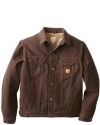 Dark Brown Denim Jackets For Men Men S Fashion