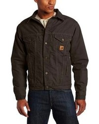 Carhartt big tall jean jacket sherpa lined sandstone medium 111347