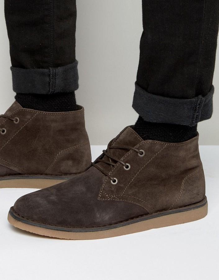887673cecc3b66 ... Brown Desert Boots Lacoste Bradshaw Chukka Boots ...