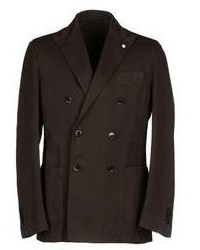 Dark brown double breasted blazer original 2641029