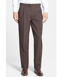 Berle self sizer waist pleated trousers medium 280099
