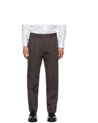 Ermenegildo Zegna Brown Cotton And Linen Trousers