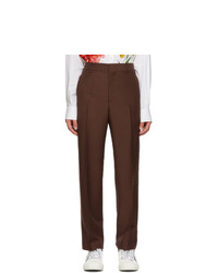 Valentino Brown Wool And Mohair Trousers