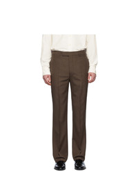 Lemaire Brown Wool Suit Trousers